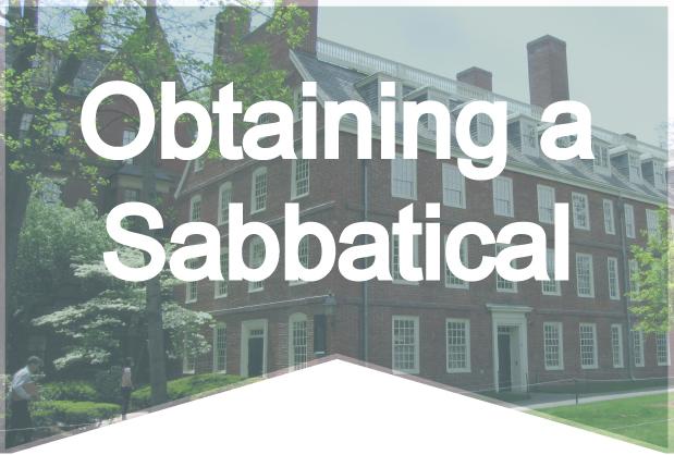 Obtaining a Sabbatical