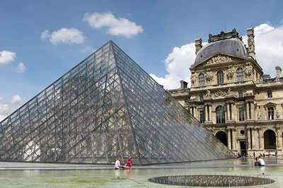 Le Louvre in Paris, France