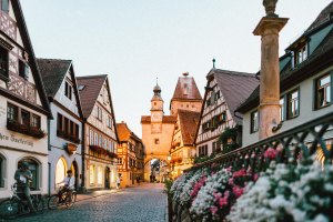 Basic German Phrases To Help You Get Around section image. Photo of town in Germany.