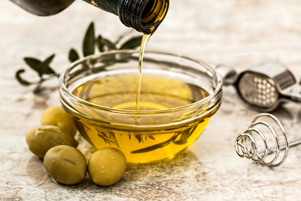 Stock the Kitchen Section Image. Photo of a small bowl of olive oil..