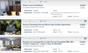 What is the Difference Between Sabbatical Home Listing Types? Screenshot of Sabbatical Homes Page.