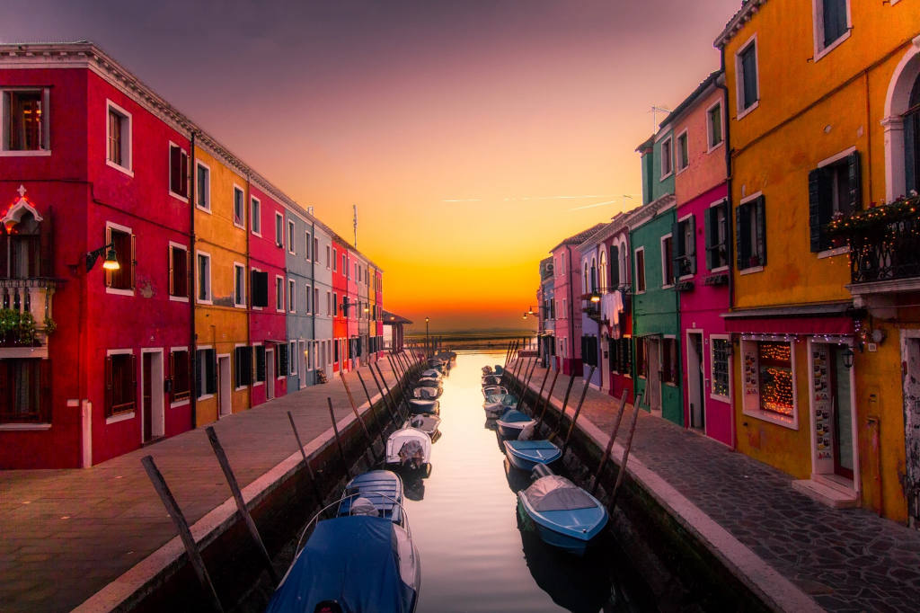 History of the Italian Language Section Image. Photo of Italian canals.
