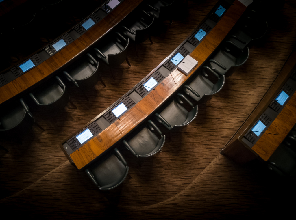 Incorporating Dialects into Official Italian Language section image. Photo of parliament seats.