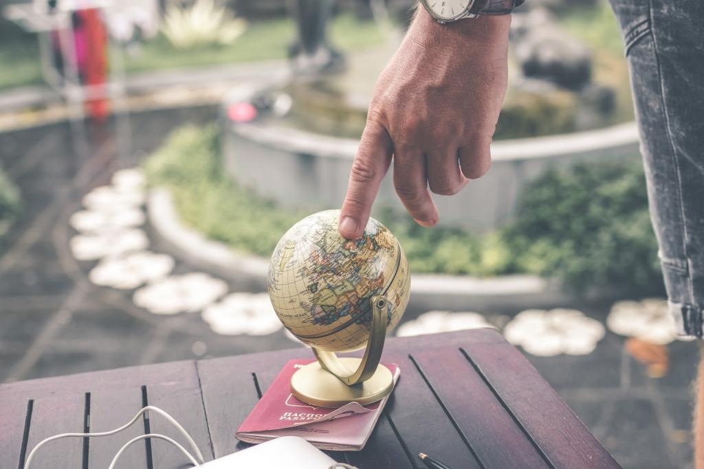 International Teacher Travel Grants for Educational Professional Development image: small globe on table