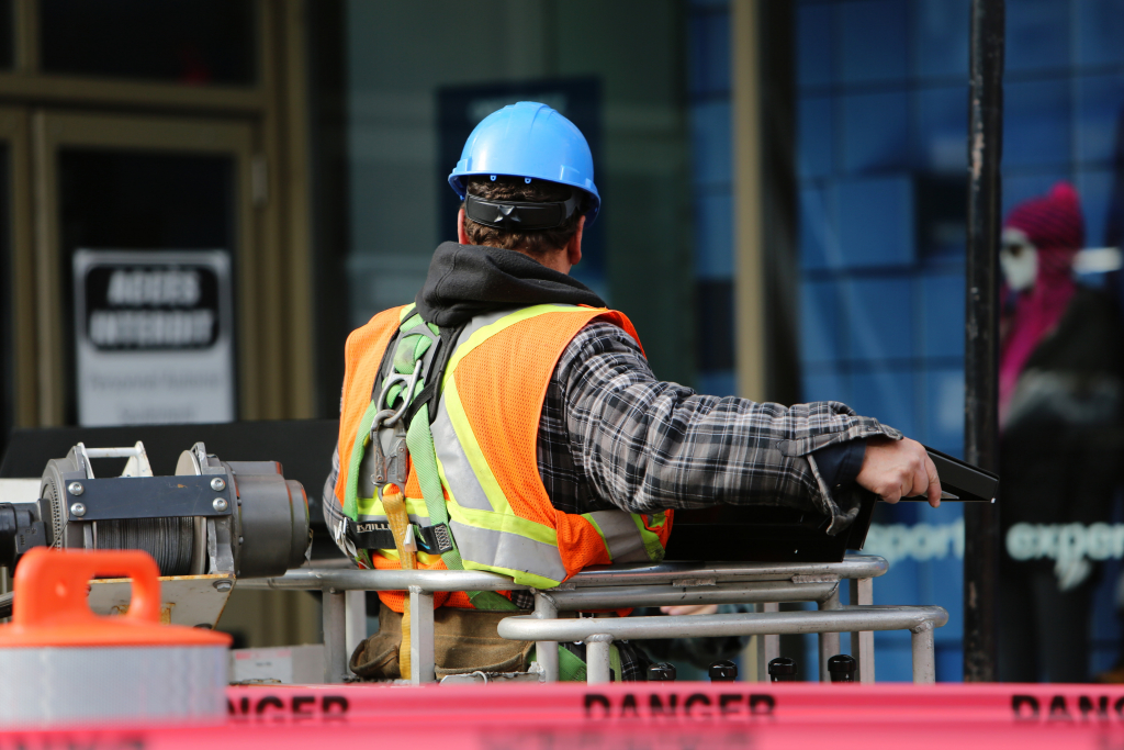Photo of city construction worker