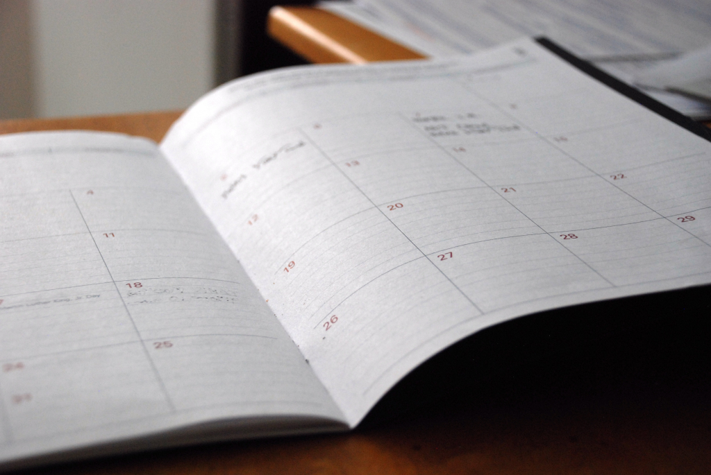Image of a calendar or planner.