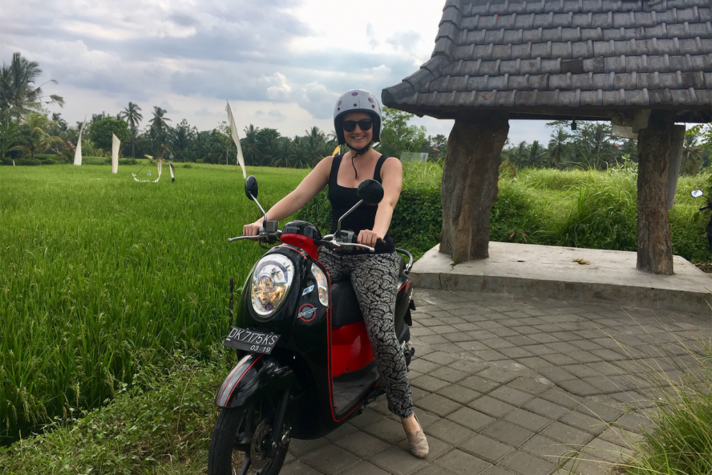 Lyndall Farley, on sabbatical in Bali with Roam in one of their Digital Nomad Communities