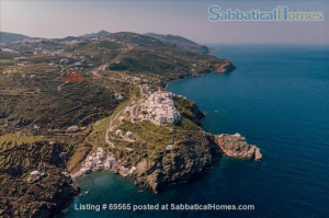 SabbaticalHomes Listing 69565. Home rental on the Greek island of Sifnos in Milos, Greece.