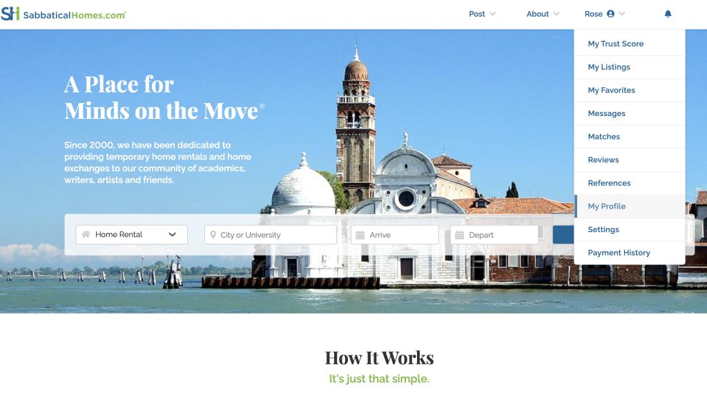 SabbaticalHomes Complete your Profile