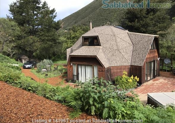 SabbaticalHomes.com Listing #141961, a geodesic dome house for rent in Big Sur, California.
