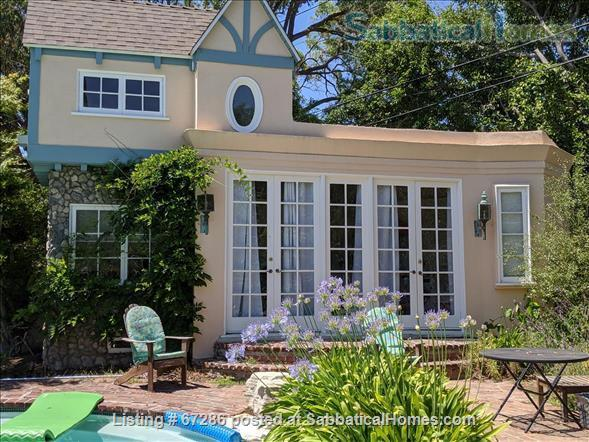 SabbaticalHomes.com Listing #67286 private pool house for rent near Westwood in Los Angeles, California.